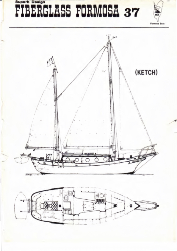 Blueprint of Seadog (from original Formosa 37 brochure, 1974)